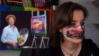 рисую на лице картину боба росса