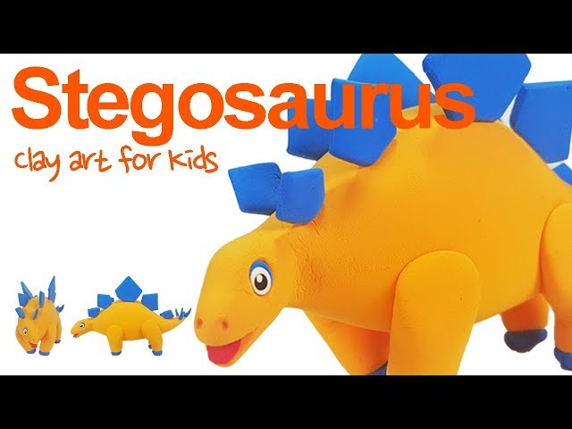 Dinosaurs #1 | Clay Stegosaurus For Kids | How To Make A Clay Stegosaurus | Clay modeling