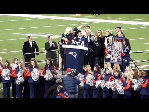 Tedy Bruschi Night, 12/6/10, Monday Night Football halftime