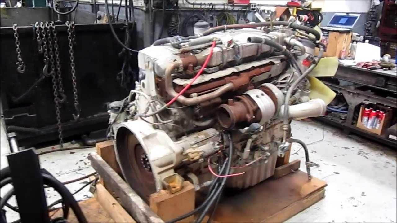 2004 mercedes om460 egr diesel engine - youtube
