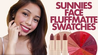 SUNNIES FACE FLUFFMATTE REVIEW and SWATCHES! | Manila Mami
