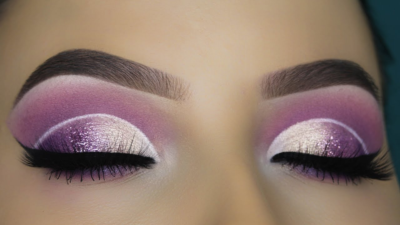 purple glam eye makeup tutorial youtube