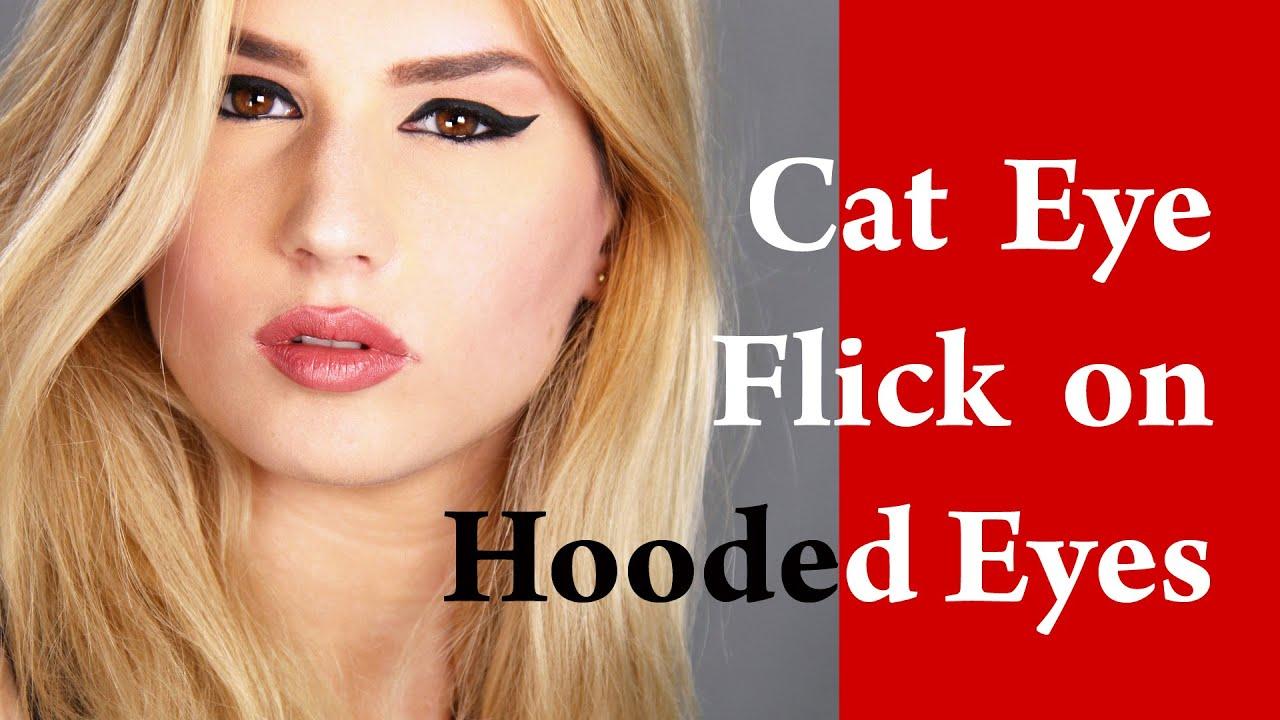 Close Set Eyes Makeup Tutorial With Eyeliner For Hooded Eyelid You