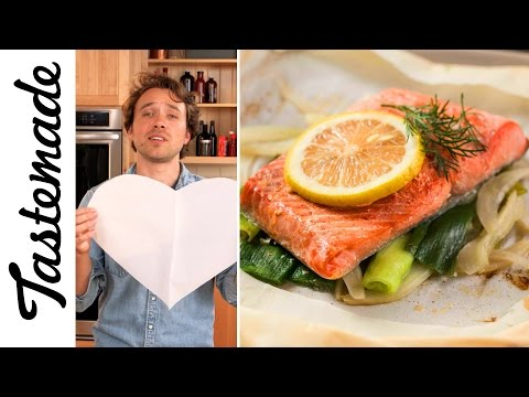 Easiest Salmon Ever (Salmon In Heart Shaped Parchment) | The Tastemakers-Frankie Celenza