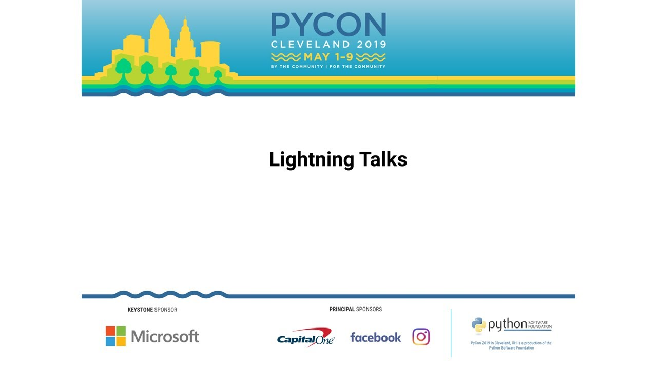 Image from Sunday Lightning Talks - PyCon 2019