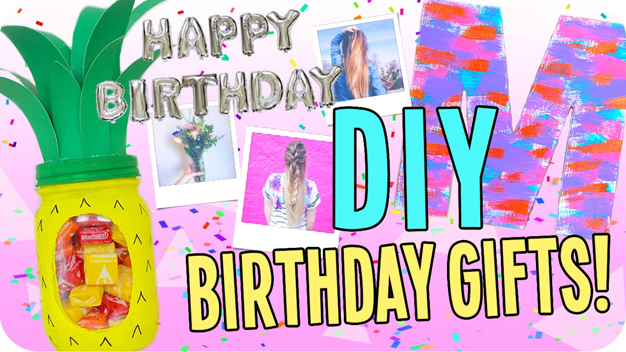 DIY Birthday Gifts for Everyone! Cheap and Easy! - YouTube