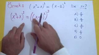 Üslü Sayılar 3 Şenol Hoca Matematik