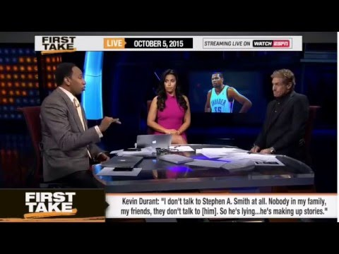 ESPN First Take   Stephen A Smith Threatens Kevin Durant