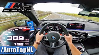 2020 BMW M5 F90 Competition 625HP TOP SPEED 309km/h on AUTOBAHN by AutoTopNL
