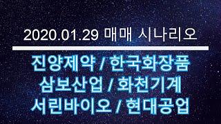 2020 01 29 매매 시나리오 - 진양제약, 한국화…