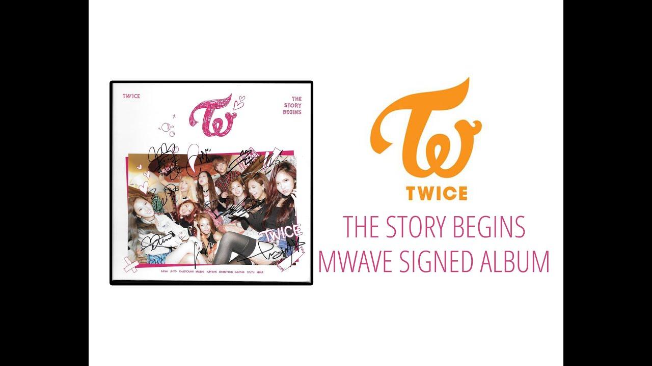 MWAVE Twice The Story Begins Signed 1st Mini Album