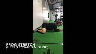 Frog Stretch (heels towards midline)
