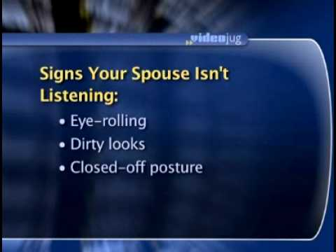 Is Your Partner Listening? Body Language Will Tell You - Dr. Sheri Meyers