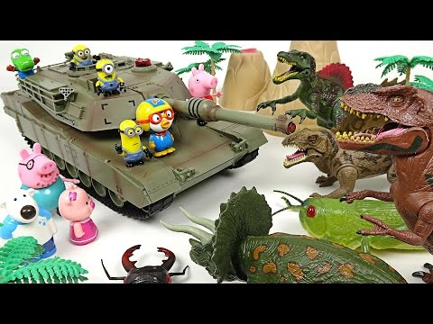 Thumbnail: Dinosaurs and insects flock to us! Minion's unbeatable tank dispatch! - DuDuPopTOY