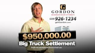 Louisiana 18-Wheeler Accident | Get Gordon McKernan Louisiana Injury Attorney