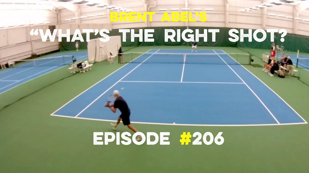 Tennis Singles Strategy - Whats The Right Shot? #206