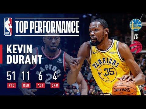 Just a little over a year ago...KD went off against the Raptors for 51 points/11rebs/6assists. Miss you KD