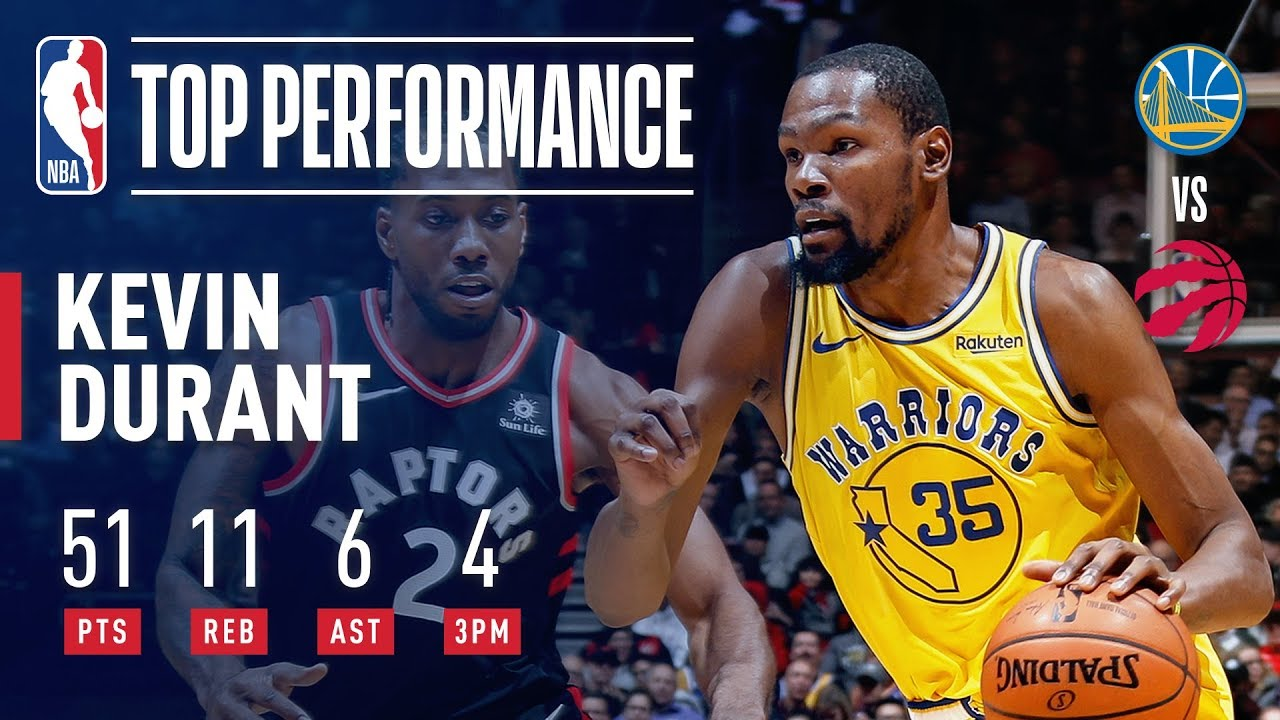 04700eb50cde Kevin Durant Drops A SCORCHING 51 Points In Toronto