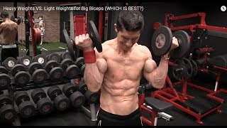 Re: Athlean-X - Heavy Weights VS  Light Weights for Big Biceps