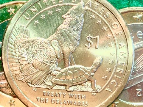 2013 Native Sacagawea Dollar Coin - Treaty With Delawares