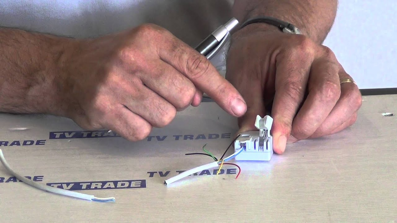 Toolless RJ11 2 Way Splitter - YouTube | Wiring Diagram Rj11 Splitter |  | YouTube