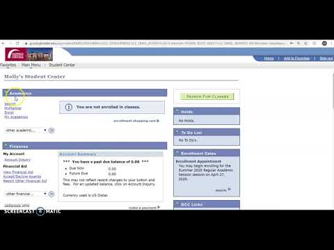 How to enroll in classes on your MYGCC Account