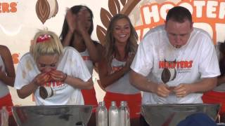 Matt Stonie wins 2015 Hooters Wing Eating Contest