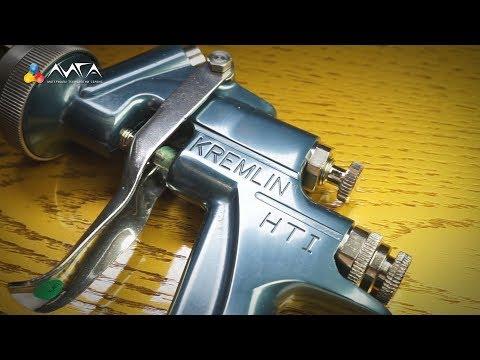 видео: 142. Золотое декапе на ясене и настройки пистолета kremlin hti