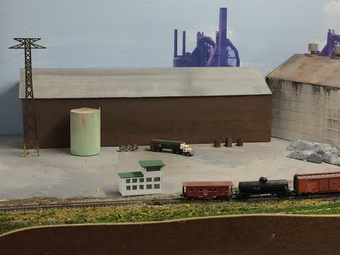 Model Railroad Tips: Scratch Build A Rolling Mill. Learn Scratch building techniques