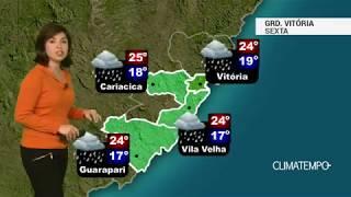 Previsão Grande Vitória – Chuva aumenta nesta sexta