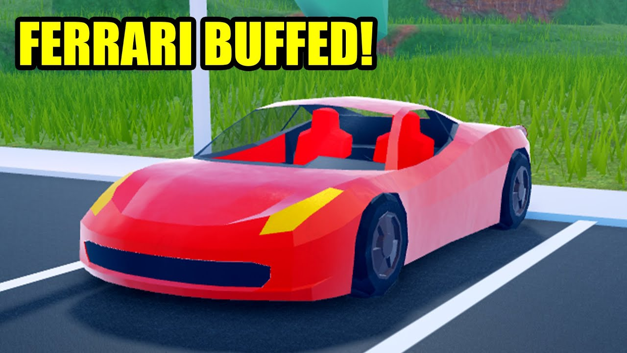 Ferrari Got Buffed Roblox Jailbreak Update Youtube