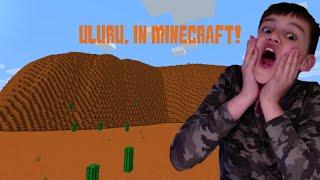 Uluru In Minecraft - School Project