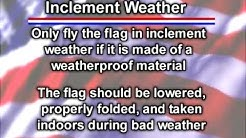Flags, Flagpoles, and Flag Etiquette