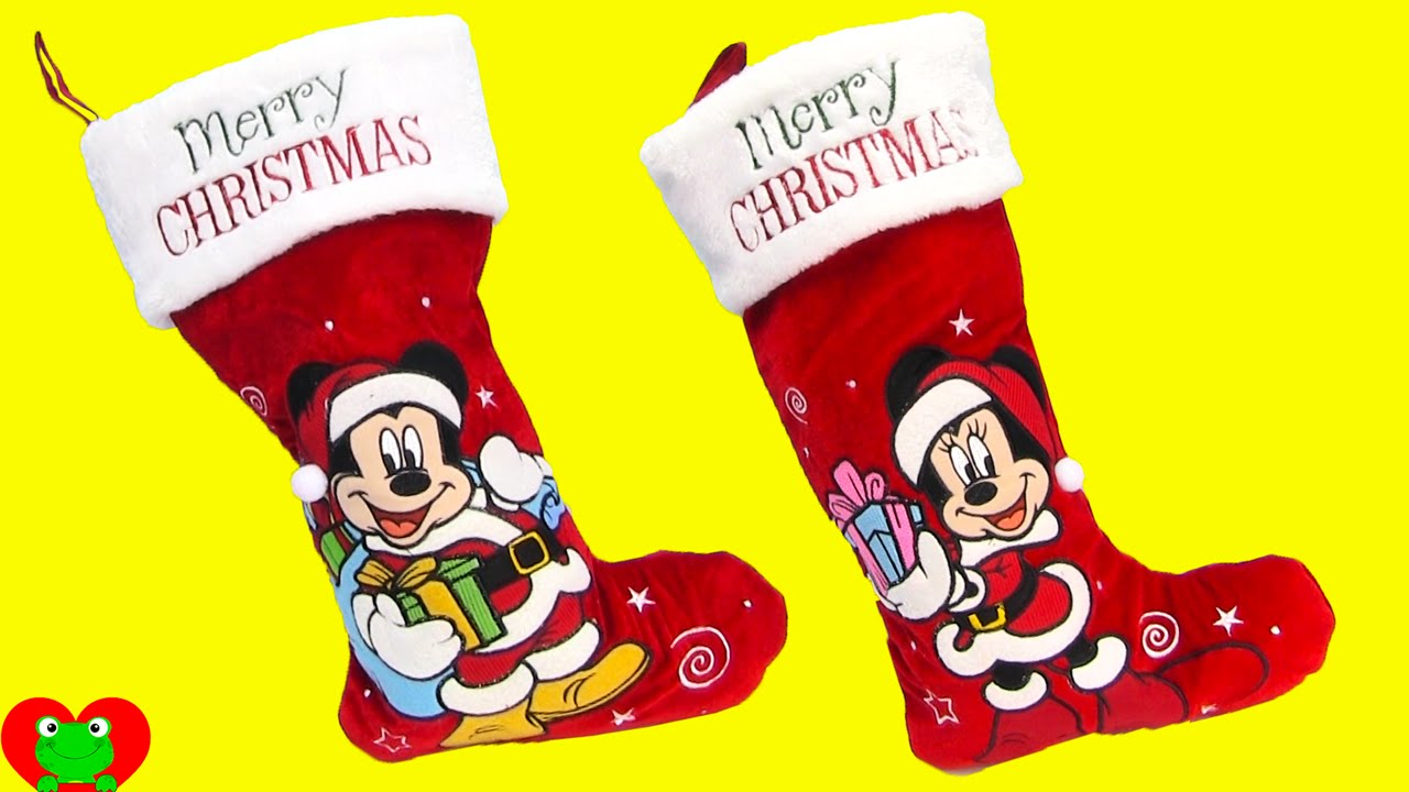 mickey mouse and minnie mouse stocking stuffer surprises - Mickey Mouse Christmas Stocking