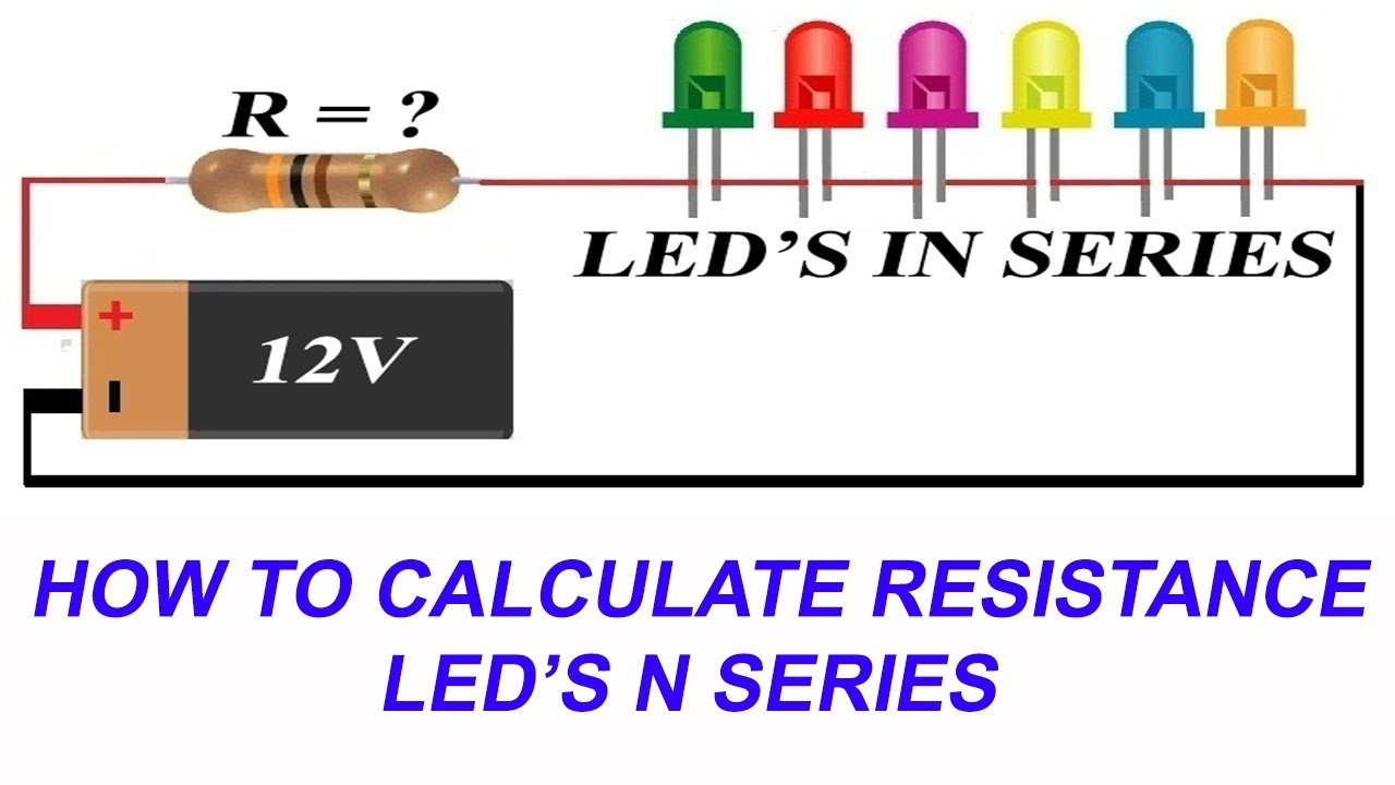 how to connect leds in series and calculate current limiting rh youtube com wiring led in series vs parallel wiring led in series or parallel