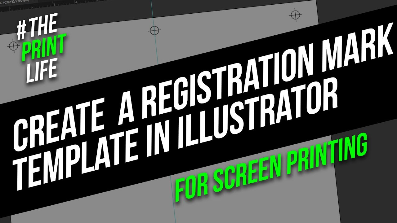 Create Registration Marks For Silk Screen Printing In Illustrator
