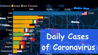 Top 10 Countries By Daily Cases Of Coronavirus (Covid-19).