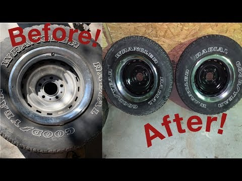 How I Blacked Out My Chevy Rally Wheels !