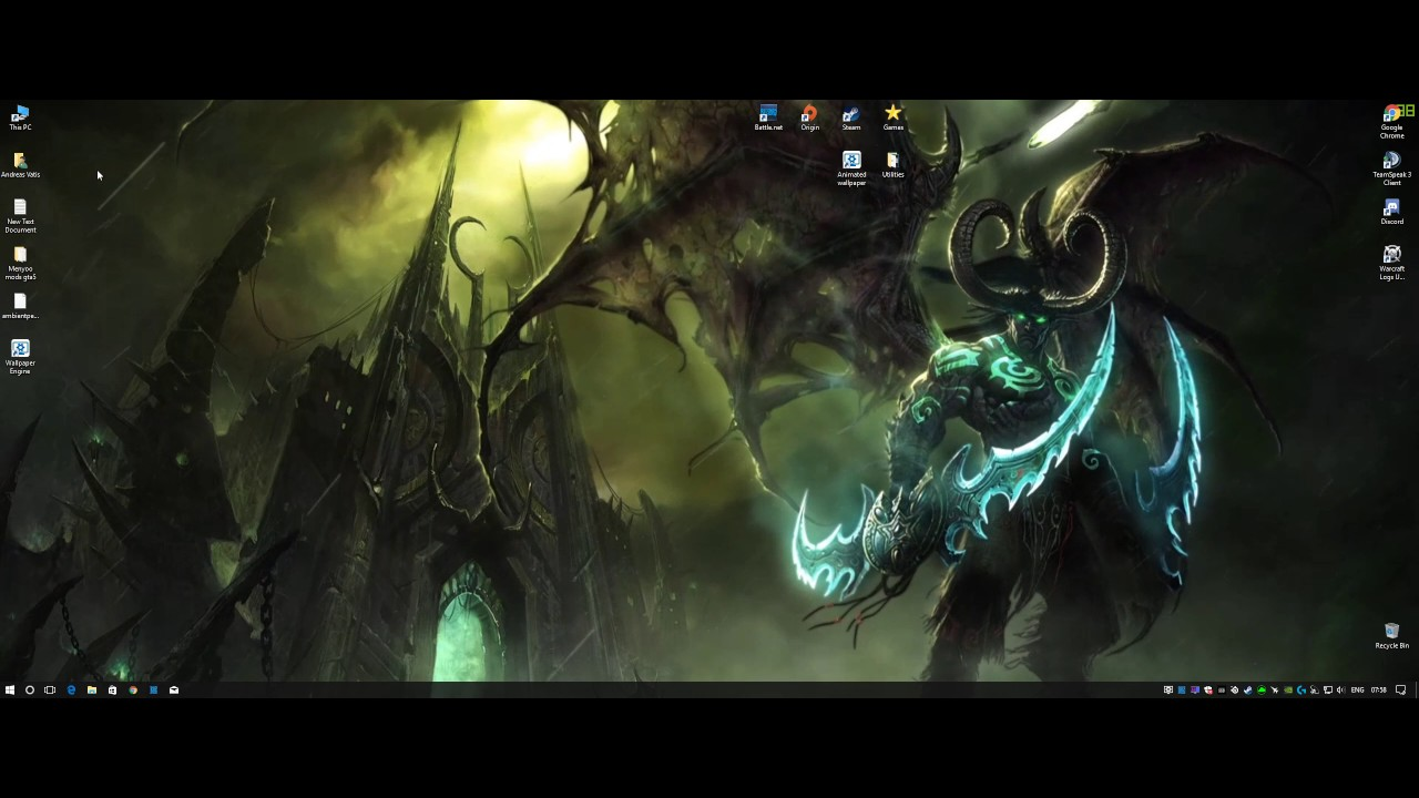 Wallpaper Engine Wow Legion Youtube