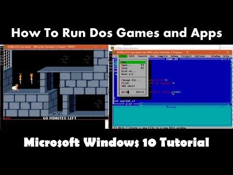 How To Run Dos Programs in Windows 10  64 Bit using DosBox   Microsoft Windows 10 Tutorial