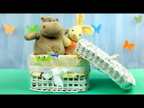 Коробка для игрушек из газетных трубочек своими руками