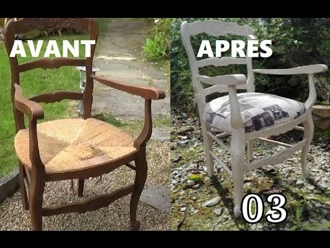 Chaise en paille faire son assise 3 youtube - Relooker chaise bois ...