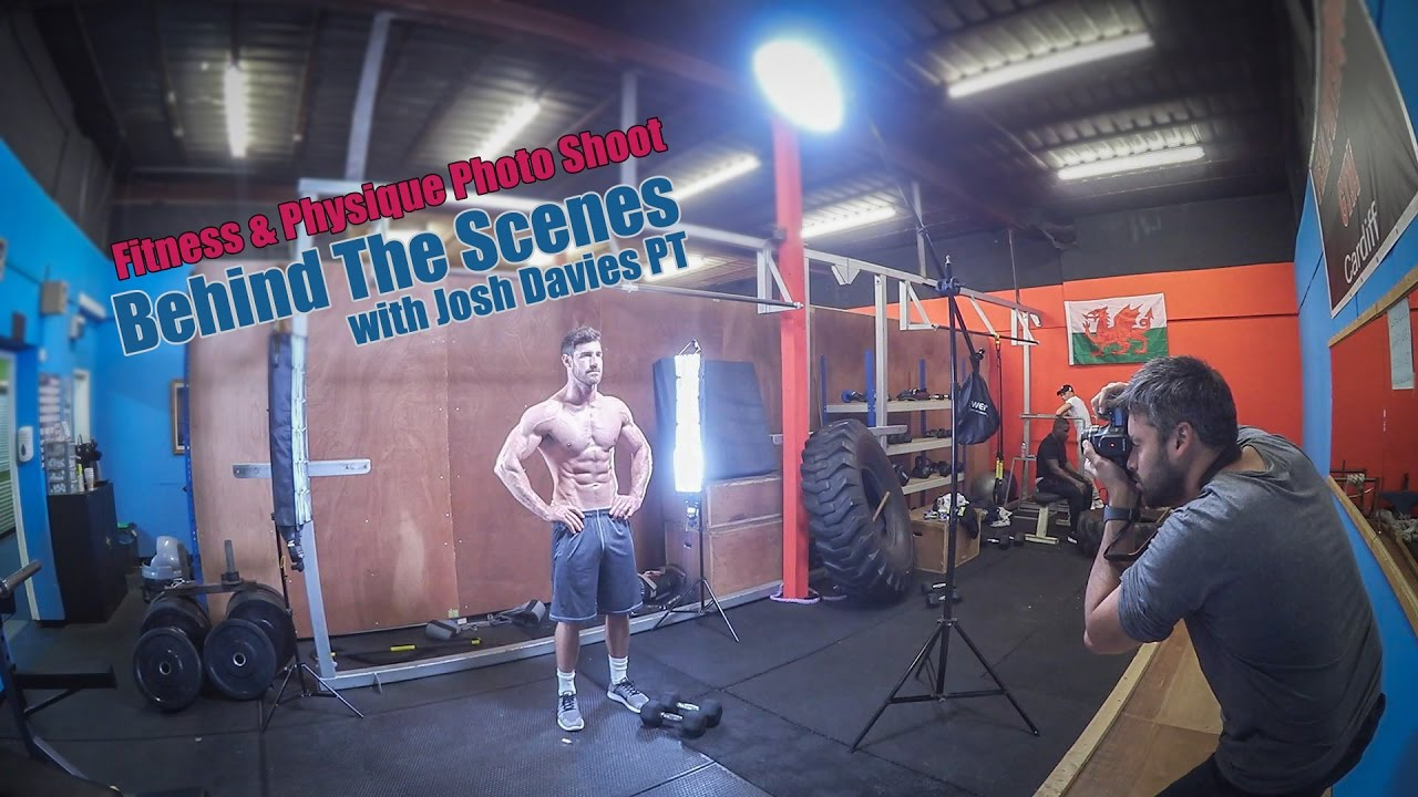 Fitness photography with speed lights gym photo shoot behind the