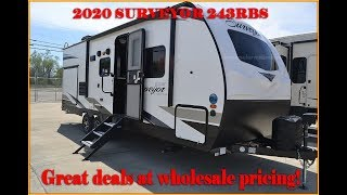 2020 Surveyor 243RBS Travel Trailer by Forestriver RV at Couchs RV Nation a RV Wholesaler RV REVIEW