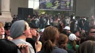 Hundreds Light Up Cannabis To Celebrate 420 at Civic Park in Denver - 4/20/12