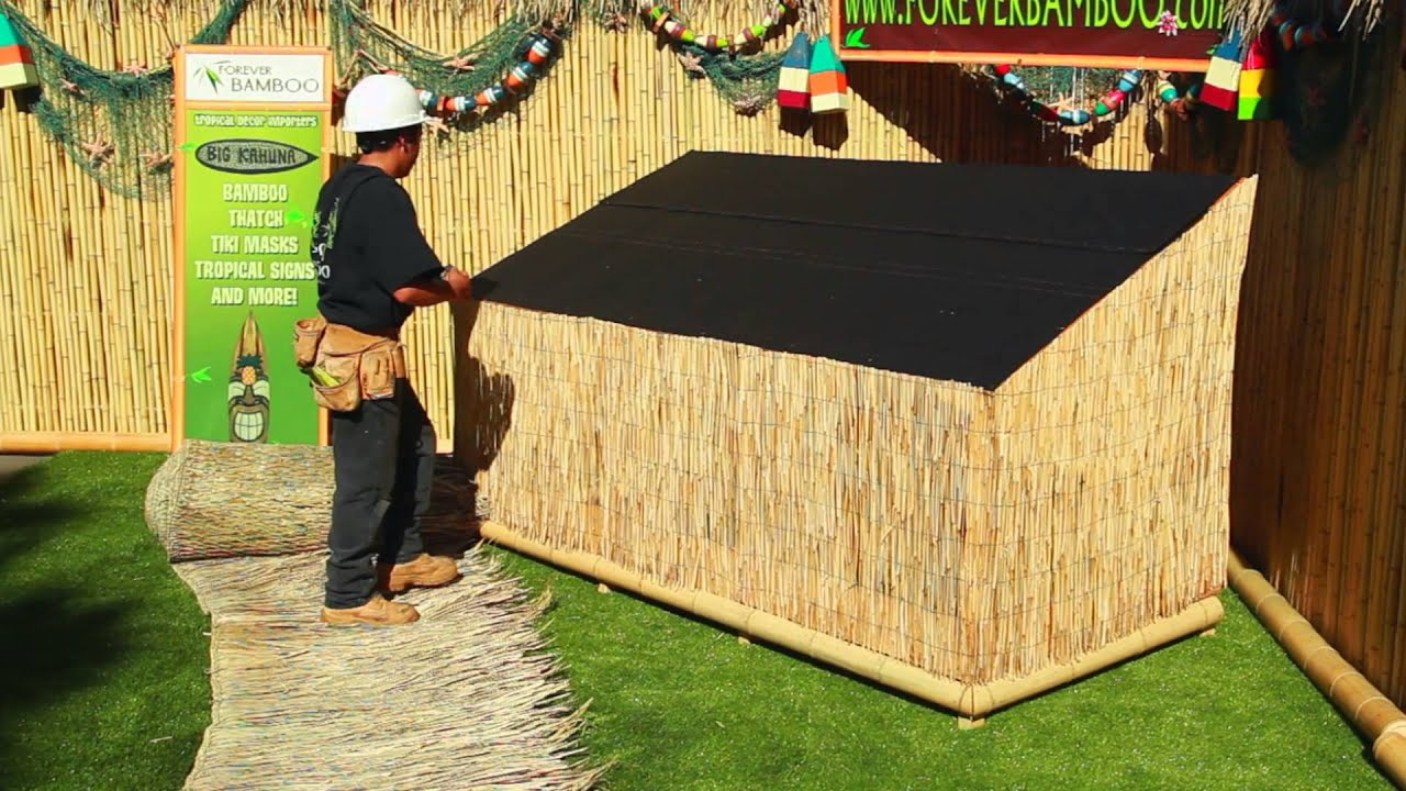 install thatched roof tiki bar popular roof 2017