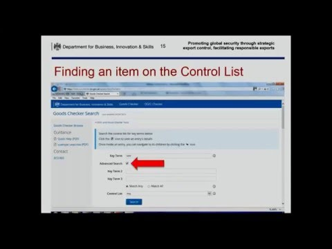 Webinar: How do I know if my goods are on a control list?