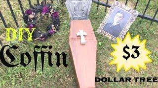 DIY Cardboard Coffin | Dollar Tree DIY