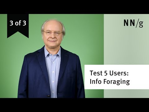 Usability Testing w. 5 Users: Information Foraging (video 3 of 3)