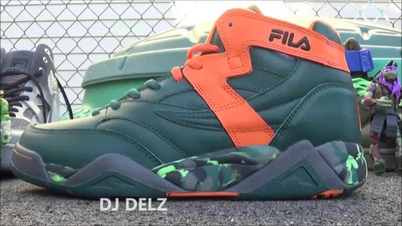 TMNT x Fila M Squad Michelangelo Sample Shoe Review With Dj Delz Teenage Mutant Ninja Turtles
